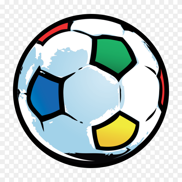 Flat soccer ball on transparent background PNG
