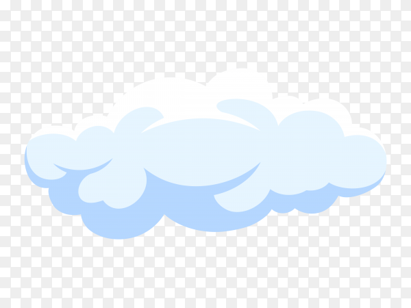 Fluffy White Cartoon Cloud In Blue Sky On Transparent Background Png Similar Png