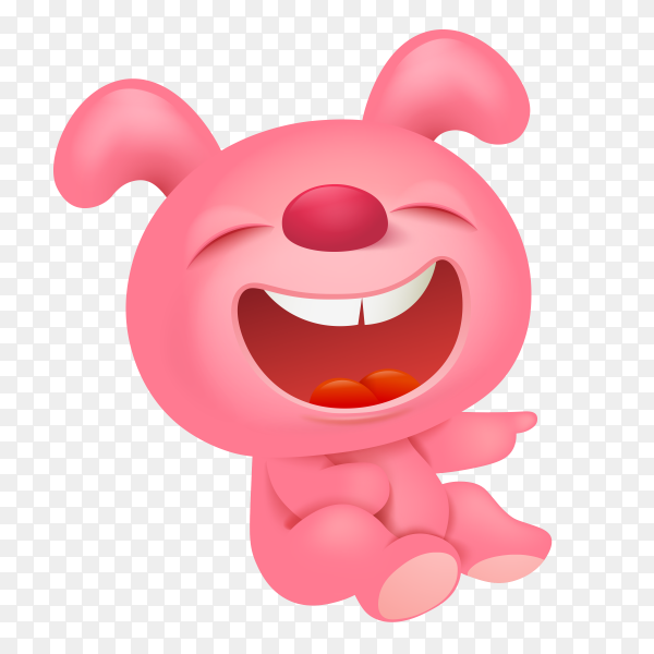 Funny Cartoon Teddy bear on transparent background PNG