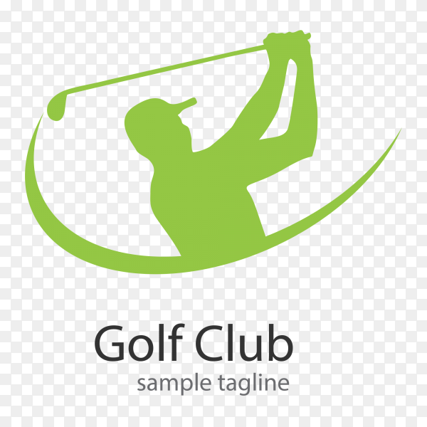 Golf club logo design vector PNG