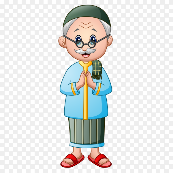 Grandfather cartoon on transparent background PNG