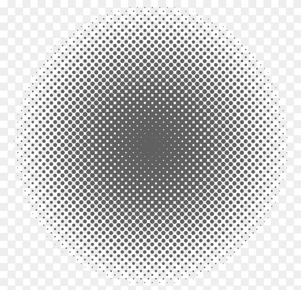 Halftone circle design on transparent background PNG