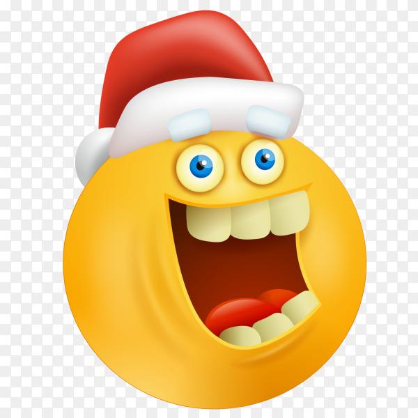 happy emoji face with santa claus hat premium vector png - similar png  similar png