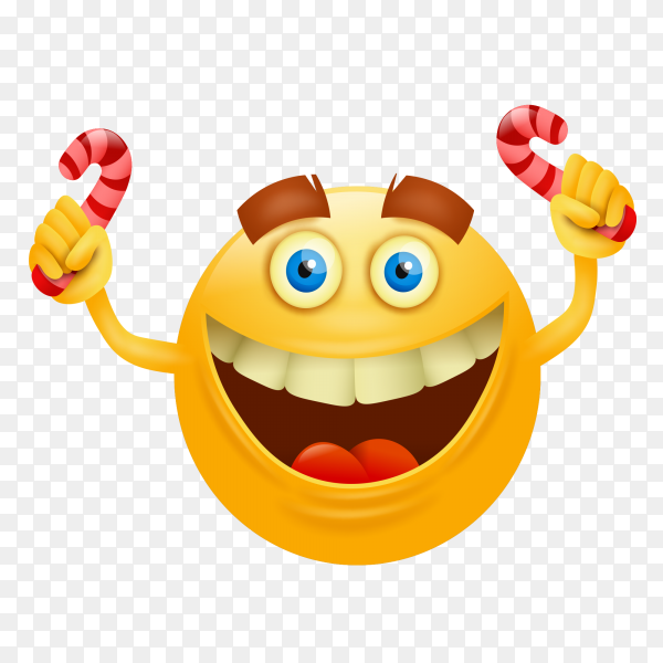 Happy smiley face on transparent background PNG