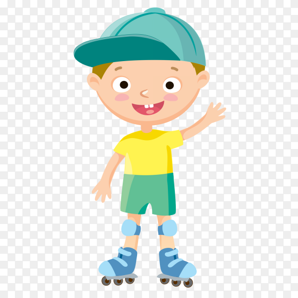 Happy smiling child on transparent background PNG