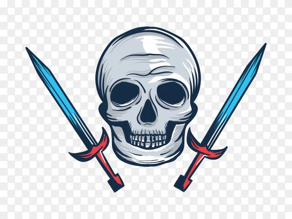 Head skull on transparent background PNG