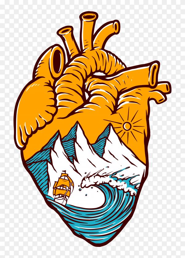 Heart design on transparent PNG