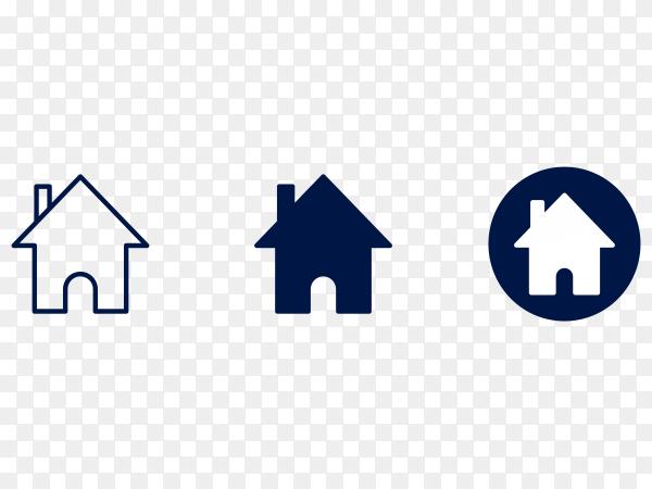 Home logo on transparent background PNG