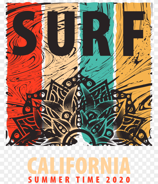 Illustration on the theme of surf Rider on transparent background PNG