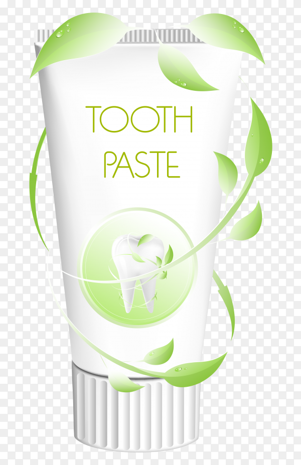 Illustration tube of toothpaste clipart PNG