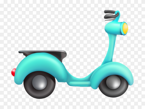 Isolated scooter cartoon on transparent background PNG