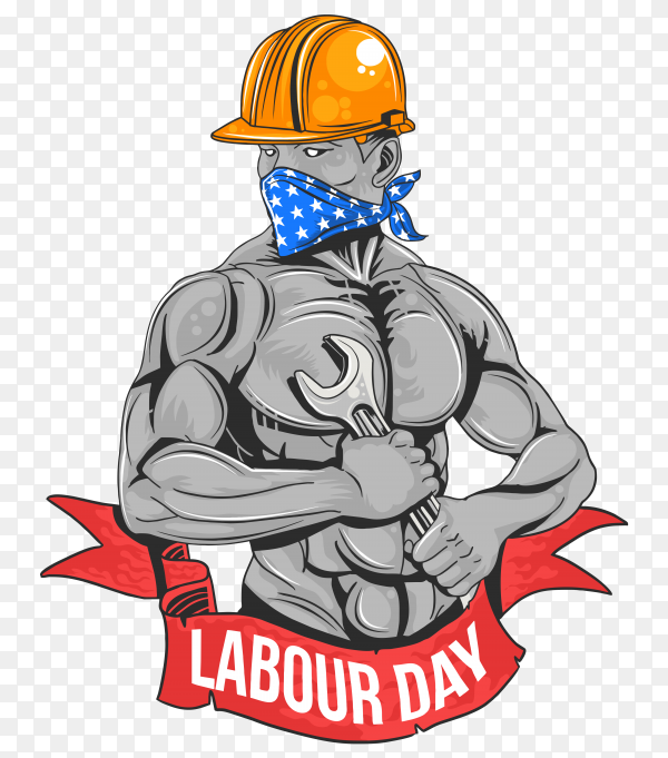 Labour day Logo style Premium vector PNG