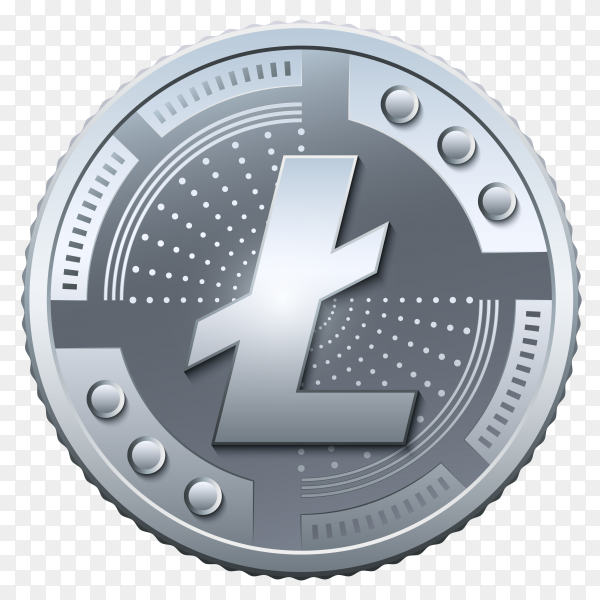 Litecoin Currency on transparent background PNG