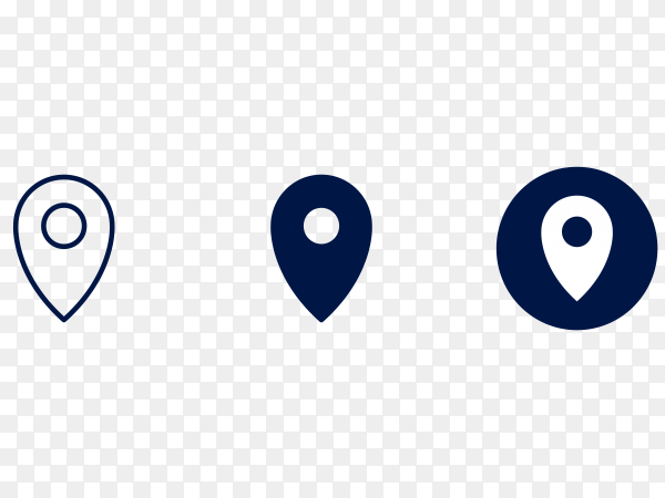 Location logo on transparent background PNG