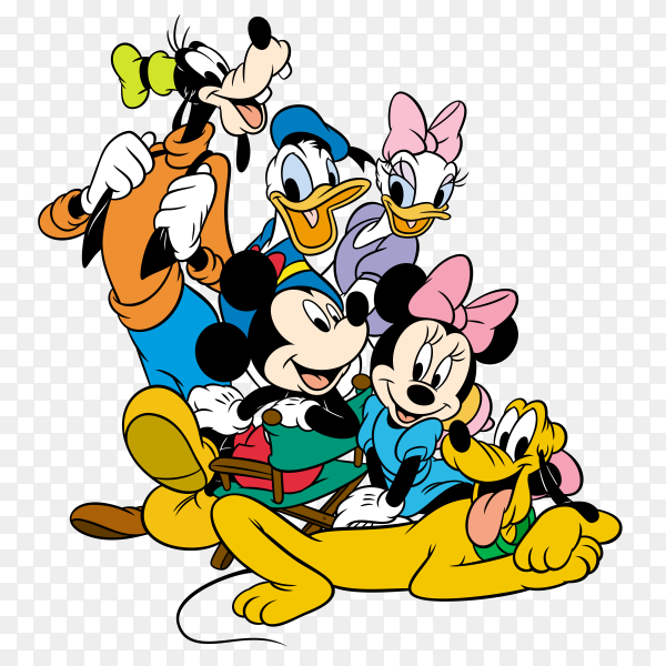 Mickey Mouse universe cartoon on transparent background PNG