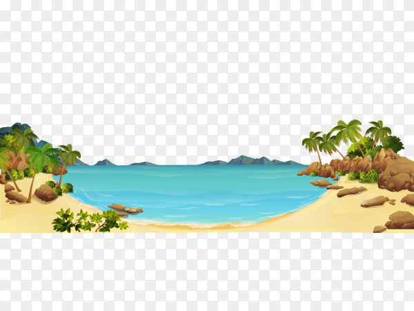 Natural view on transparent background PNG
