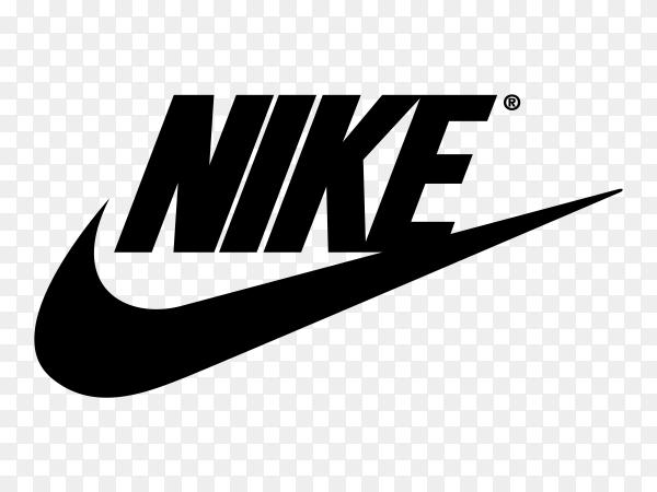 Nike logo on transparent background PNG