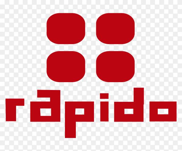 Rapido Logo Premium vector PNG