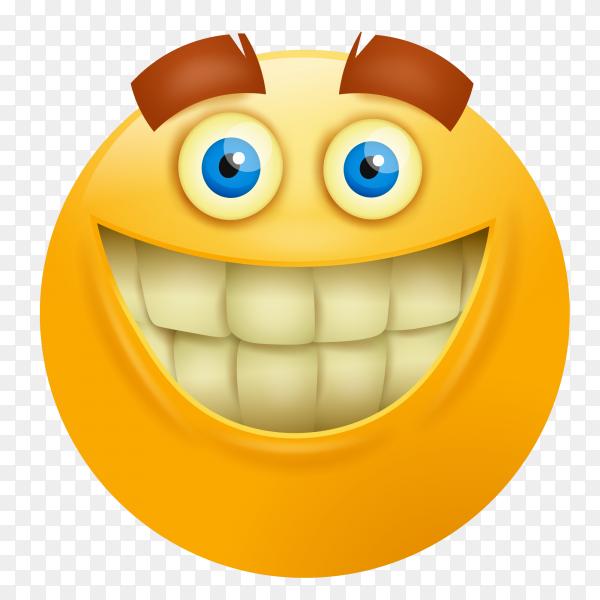 Smiley face emoji on transparent background PNG
