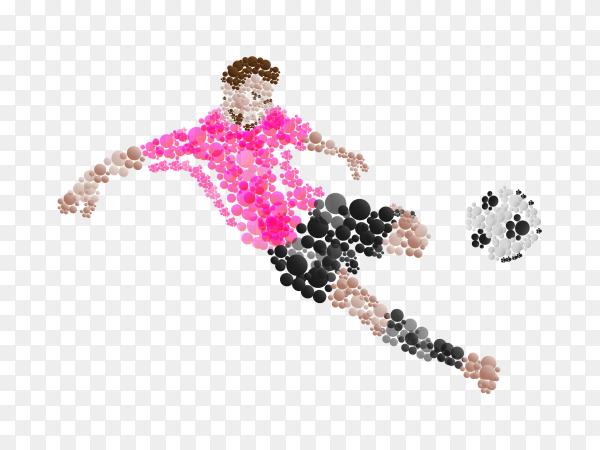 Soccer player logo  on transparent background PNG