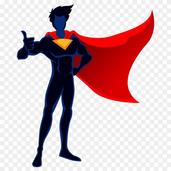 Super man cartoon on transparent background PNG
