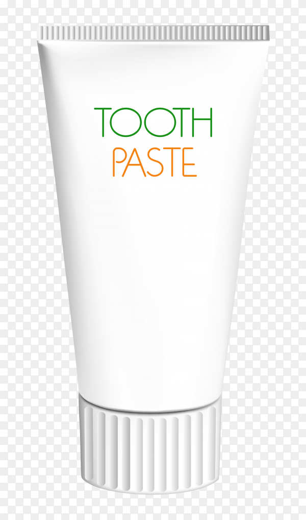 Tube of toothpaste on transparent background PNG