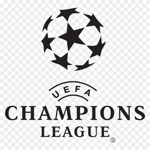 Uefa champions league Logo on transparent background PNG