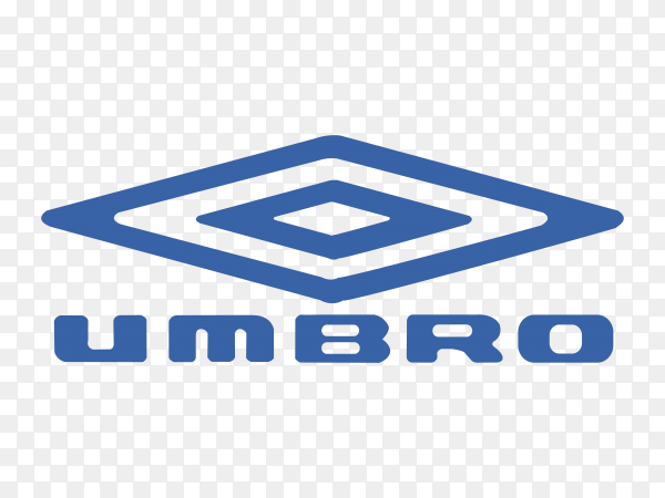 Umbro logo design on transparent background PNG