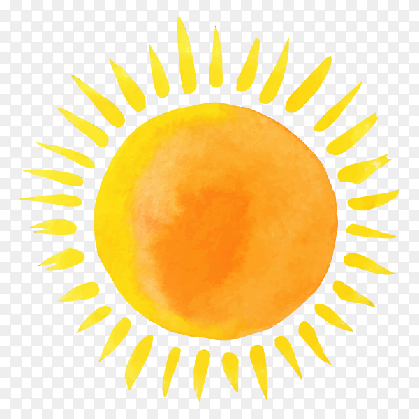 Warm sun on transparent background PNG