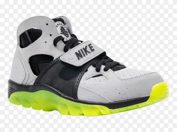 White Nike basketball shoes on transparent PNG