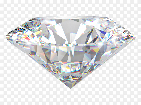 3D Classic diamond on transparent background PNG