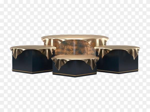 3D black podium Premium vector PNG
