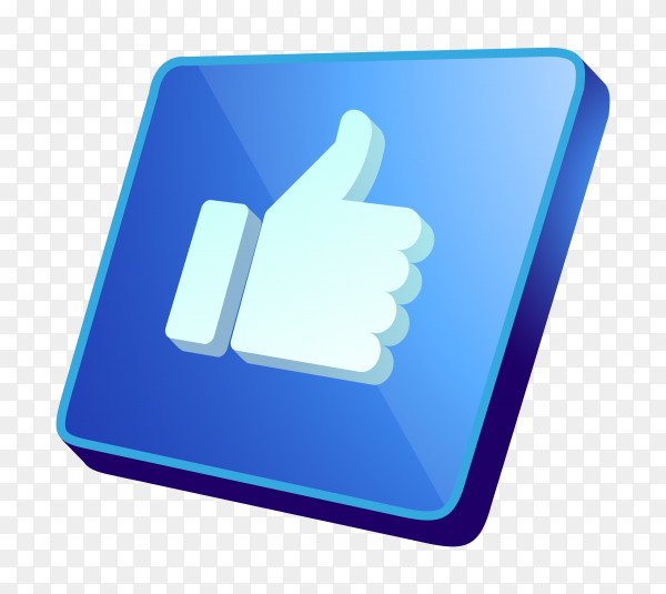 3D like icon on transparent background PNG