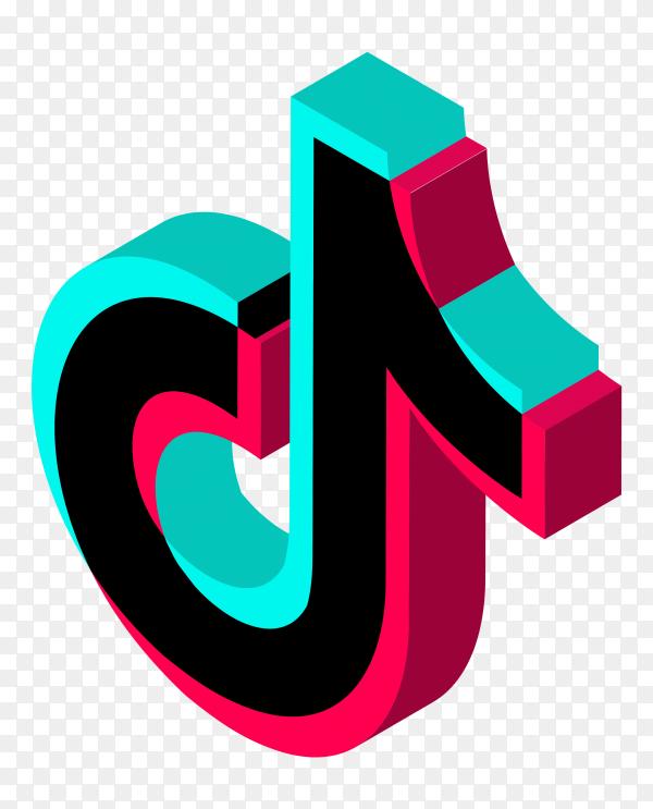 3D tiktok icon on transparent background PNG