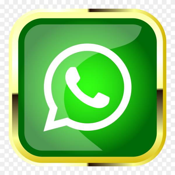 3D whatsapp logo on transparent PNG