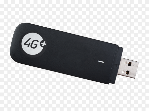 4G usb flash drive on transparent background PNG