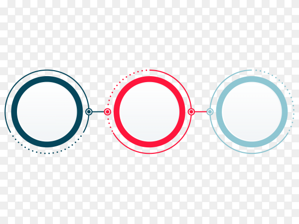 Abstract infographics options on transparent background PNG