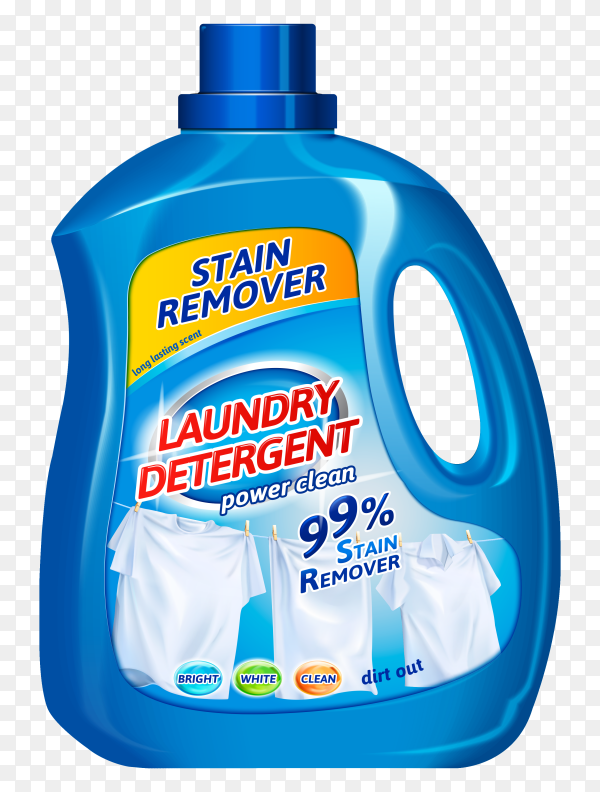 Advertising poster of cleaning product on transparent background PNG