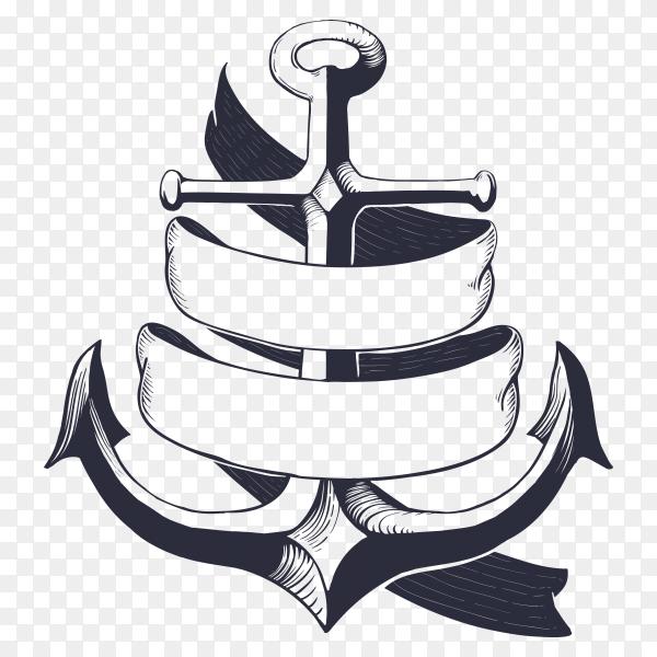 Anchor Design illustration on transparent background PNG