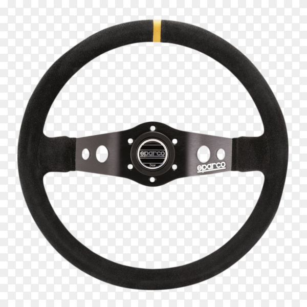 Balck car Steering wheel on transparent background PNG