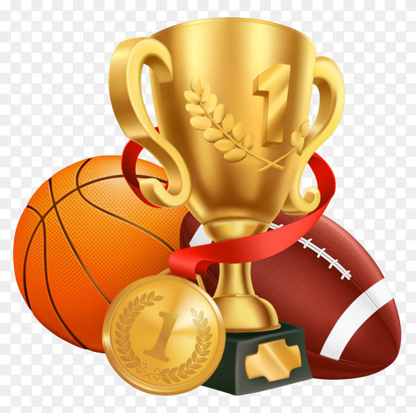 Basketball Achievement Award on transparent background PNG