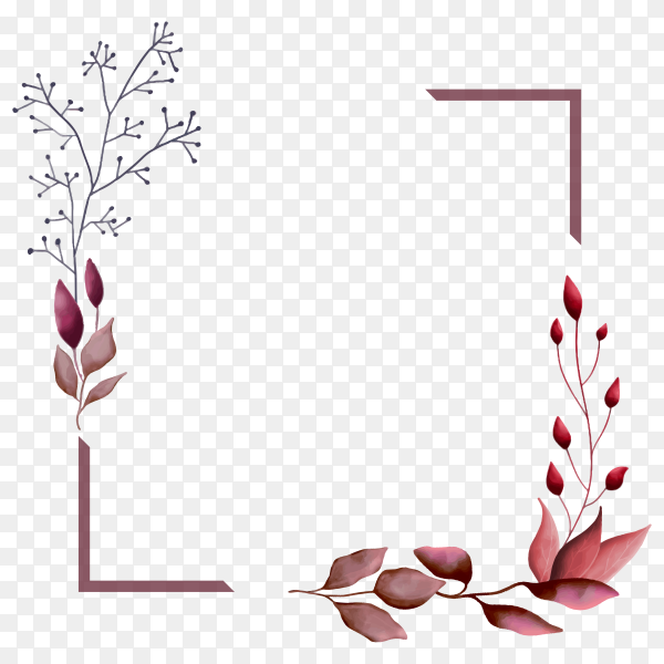 Beautiful frame on transparent background PNG