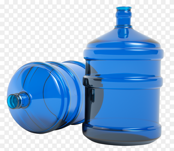 Big plastic bottle potable water isolated on transparent background PNG