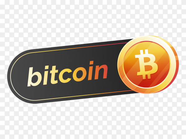 Bitcoin icon design on transparent background PNG