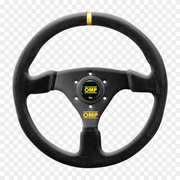 Black Steering wheel  on transparent background PNG