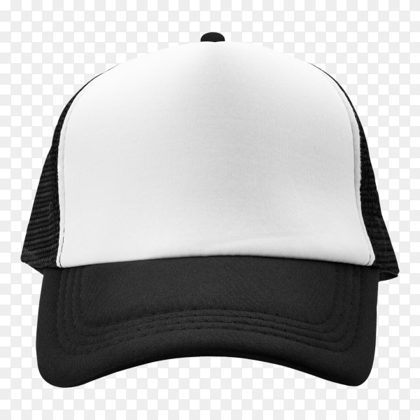 Black cap isolated design on transparent background PNG