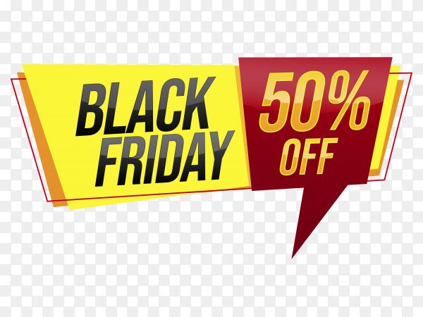 Black friday Special offer on transparent background PNG