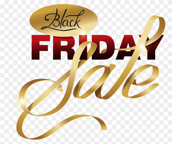 Black friday banner on transparent background PNG