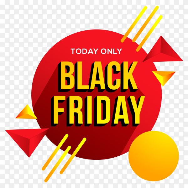 Black friday offers banner on transparent background PNG