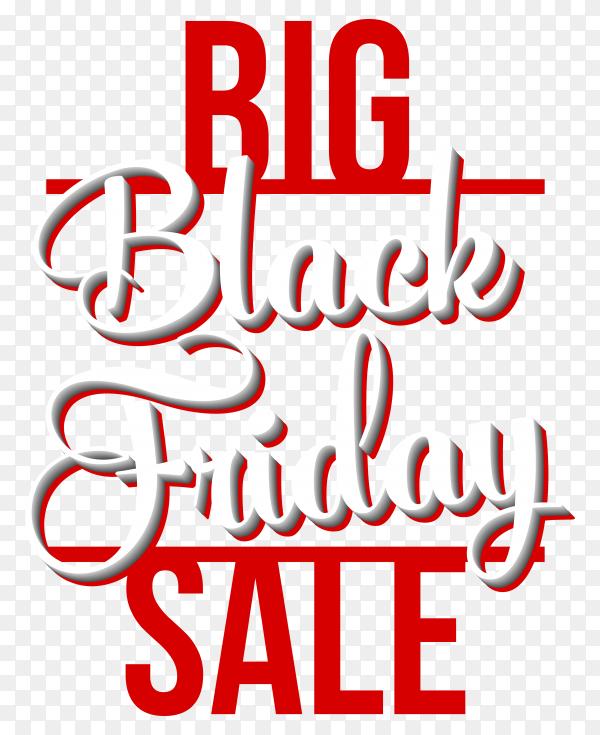 Black friday poster design on transparent background PNG
